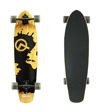 Quest Rorshack Bamboo Longboard Skateboard