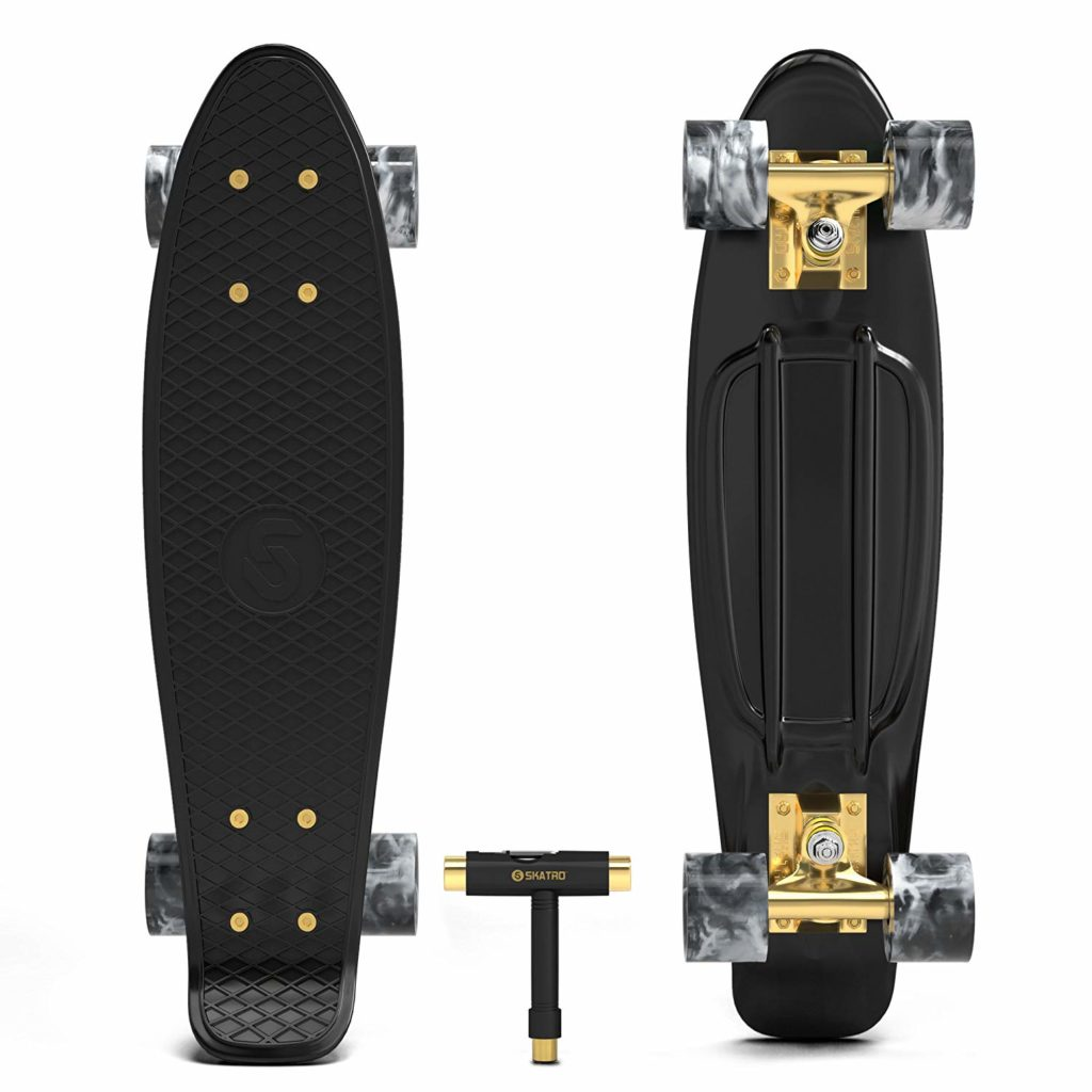 Skatro Mini Cruiser Skateboard Retro Style Plastic Board